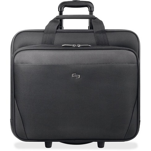 "Solo Classic Carrying Case (Roller) for 17.3"" Notebook - Black - Polyester - Handle - 17"" Height x 14.5"" Width x 8.5"" Depth - image 1 of 1"