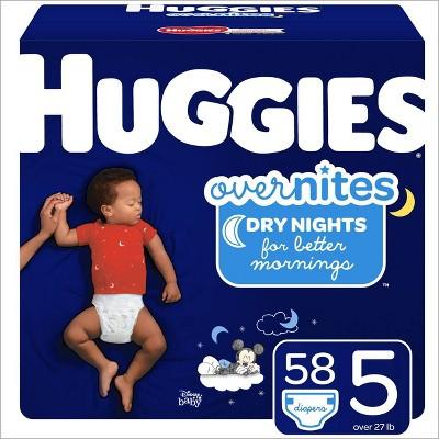 Huggies OverNites Diapers - Size 5 (58ct)