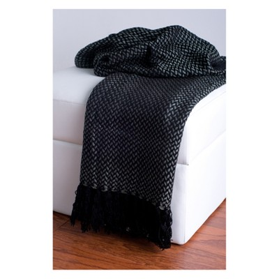 Throw Blankets 50 X60  Black - Rizzy Home