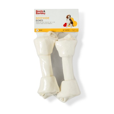 7'' Natural Beefhide Bone Rawhide Dog Treats - 2ct - Boots & Barkley™