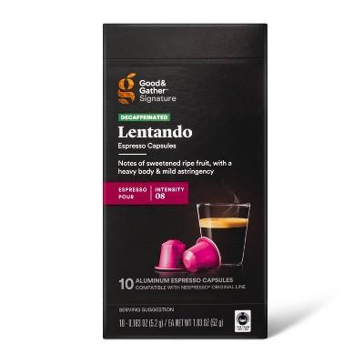 Signature Decaf Espresso Roast Lentado Pods Coffee - 10ct - Good & Gather™