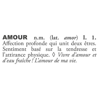 Amour Definition Wall Decal - Black