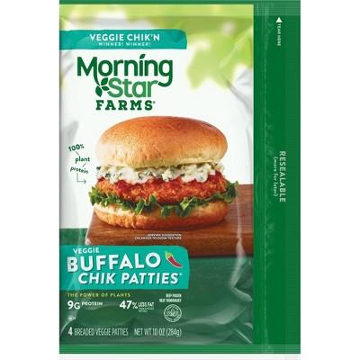 Morningstar Farms Buffalo Frozen Chik Veggie Patties - 4ct/10oz