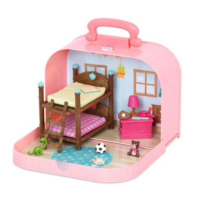 Li'l Woodzeez Bunk Bed Playset in Suitcase