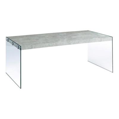 Great Coffee Table   Grey U0026 Tempered Glass   EveryRoom