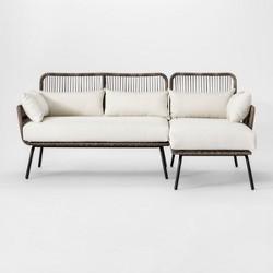 Latigo Patio Sectional Brown/Linen - Opalhouse™