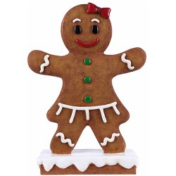 "27"" Polyresin Gingerbread Girl Christmas Statue Brown - Hi-Line Gift"