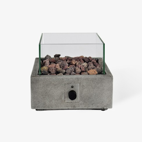 """Argent 10"""" Square Cement Tabletop Fire Pit - Gray - Bond - image 1 of 2"""