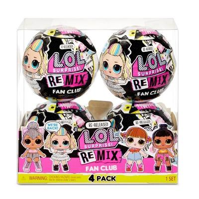 L.O.L. Surprise! Remix Fan Club 4 Pack – 4 Re-released Dolls each with 7 Surprises