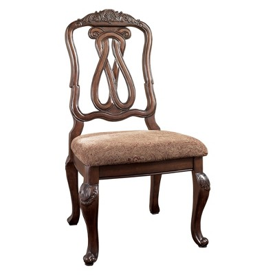 North Shore Dining Uph Side Chair Dark Brown   Signature Design By Ashley