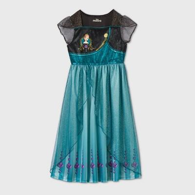 Girls' Anna Epilogue Dress Up Nightgown - Black XS