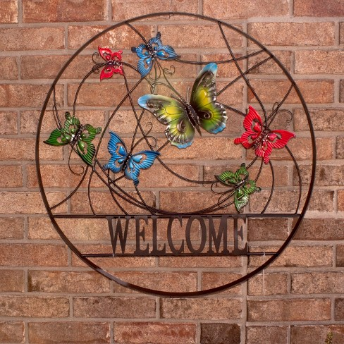 24 H Metal Outdoor Wall Art Backyard Expressions