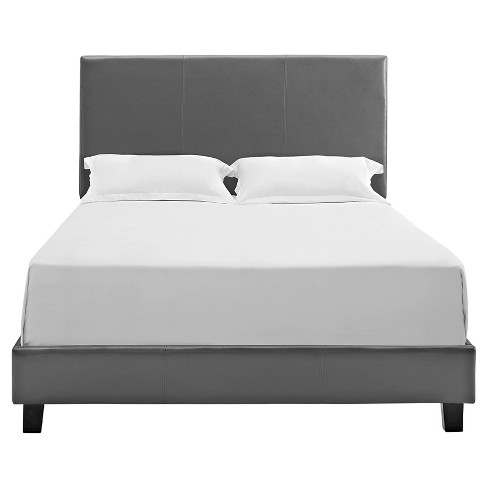 Jana Bed - Queen - Magnetite Faux Leather - Picket House Furnishings - image 1 of 4