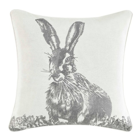 Bunny Square Throw Pillow - Laura Ashley - image 1 of 2