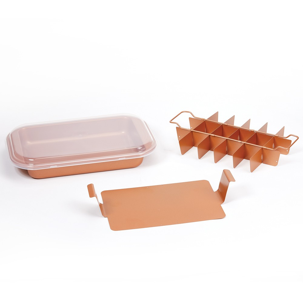 As Seen on TV Copper (Brown) Chef Bakeware and Cookware Sets