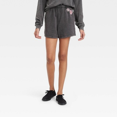 Women's Equality Graphic Jogger Shorts - Gray