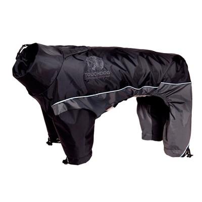 Touchdog Quantum-Ice Full-Bodied Adjustable and 3M Reflective Dog Jacket with Blackshark Technology - Black