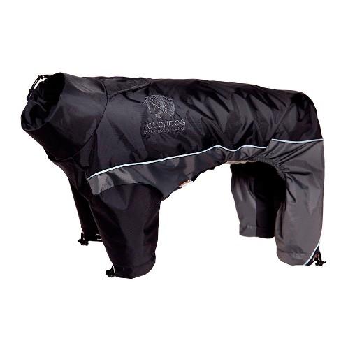 Touchdog Quantum-Ice Full-Bodied Adjustable and 3M Reflective Dog Jacket with Blackshark Technology - Black - image 1 of 4