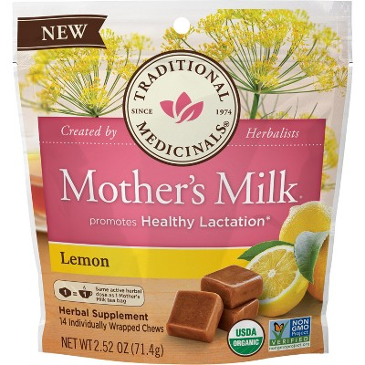 Traditional Medicinals Mother's Milk Lemon Chews - 14ct