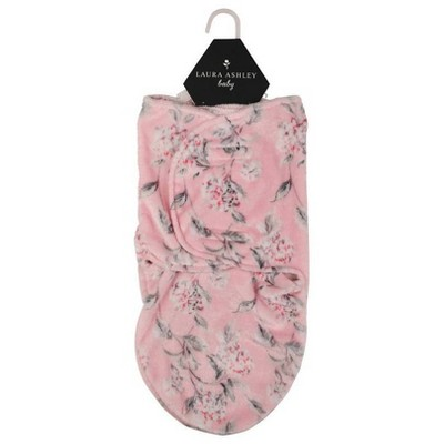 Laura Ashley Single Swaddle Frosted Hydrangea Pink