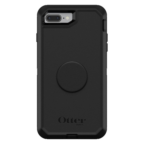sneakers for cheap fc53f 4e9dd OtterBox Apple iPhone 8 Plus/7 Plus Otter + Pop Defender Case (With PopTop)  - Black