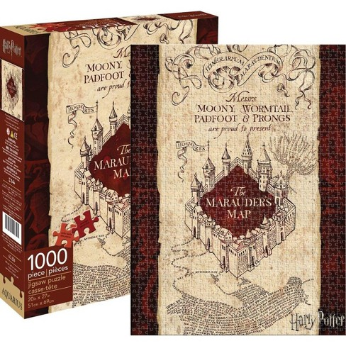 Harry Potter Marauders Map 1000-Piece Jigsaw Puzzle on resident evil map, cancer map, rocky map, tv map, star fleet universe map, lord of the rings map, anime map, disney map, sherlock holmes map, diagon alley map, mauraders map, wizard of oz map, mario map, matrix map, marauder's map, cars map, marvel universe map, alice in wonderland map, middle-earth map, narnia map,