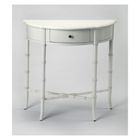 Butler Specialty Skilling Demilune Console Table Glossy White