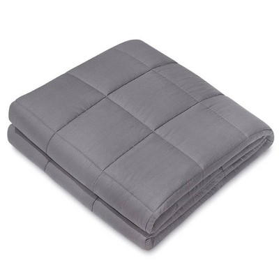 """48"""" x 72"""" 15lbs Cotton Weighted Blanket Charcoal - NEX"""