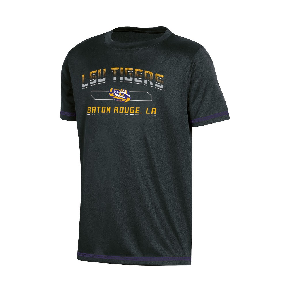 NCAA Boys' Poly T-Shirt Lsu Tigers - XL, Multicolored