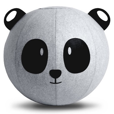 Vivora Niko Children's Anti Burst Inflatable 18 Inch Spherical Bounce Exercise Ball Ergonomic Chair, Panda Bear