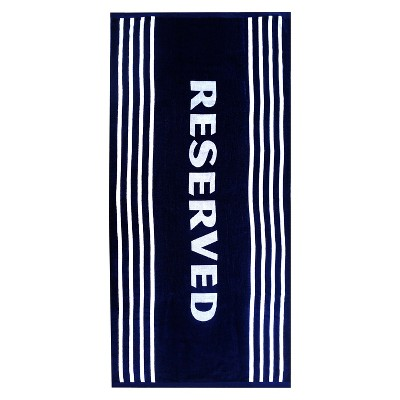XL Reserved Beach Towel Navy Voyage
