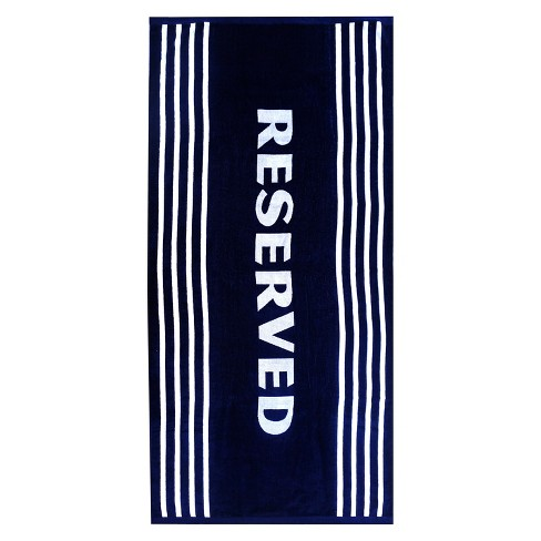 XL Reserved Beach Towel Navy Voyage - image 1 of 1