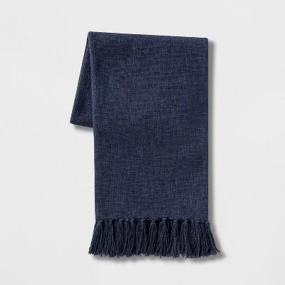 Solid Cotton Throw Blanket Blue - Threshold™