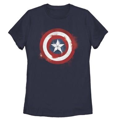 Women's Marvel Avengers: Endgame Cap Smudged Shield T-Shirt