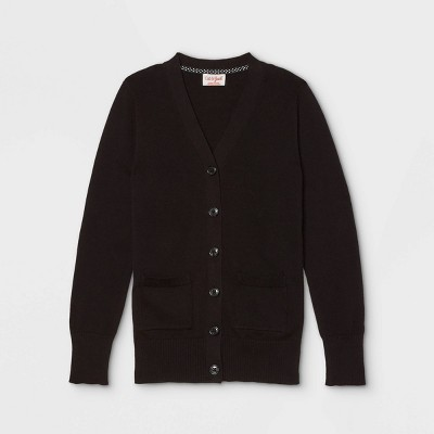 Girls' Uniform Cardigan - Cat & Jack™ Black