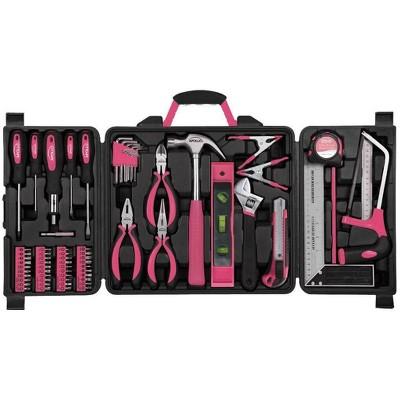 Apollo Tools 71pc DT0204P Household Tool Kit Pink