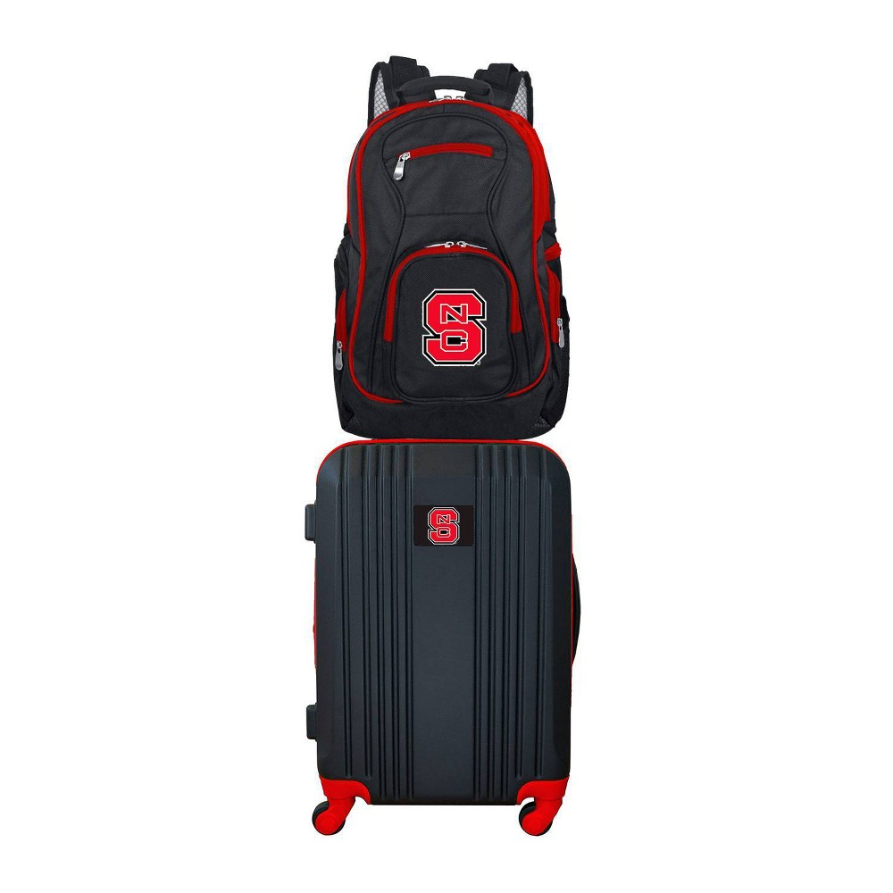 NCAA NC State Wolfpack Premium 2pc Backpack & Carry-On Luggage Set