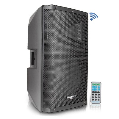 Pyle PADH15BTA 1400W Indoor Outdoor Two-Way Bluetooth PA Loud Speaker Set with 15-Inch Subwoofer, 1.75-Inch Tweeter, and 38mm Stand Mount Support