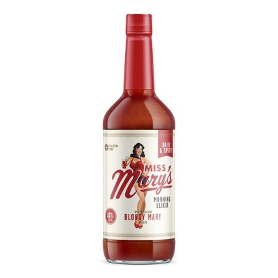Miss Mary's Bold & Spicy Bloody Mary Mix - 32 fl oz Bottle