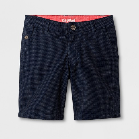 Boys' Chino Shorts - Cat & Jack™ Navy - image 1 of 3