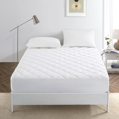 Puredown White FourLeaf Clover Quilted Mattress Pad