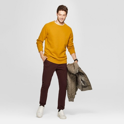 3dd7ad295b938 Men s Standard Fit Long Sleeve Crew Neck Fleece Sweatshirt - Goodfellow   Co™    Target