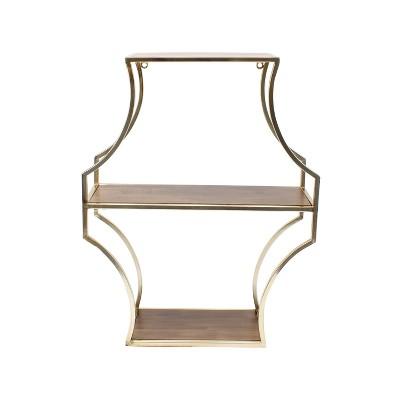 Wall Shelf - Brown/Gold