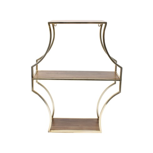 Wall Shelf - Brown/Gold - image 1 of 4
