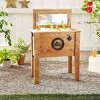 45 Qt Wooden Cooler - Rustic Wood Brown - Backyard Expressions - image 4 of 4