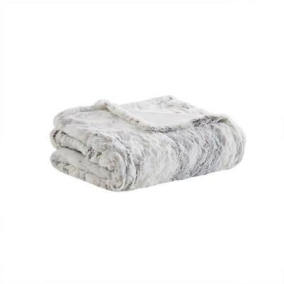 "50""x70"" Aina Marble Faux Fur Heated Throw Blanket - Beautyrest"