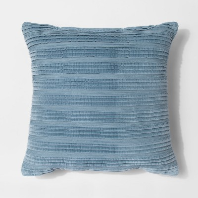 Blue Pleated Textured Throw Pillow - Threshold™