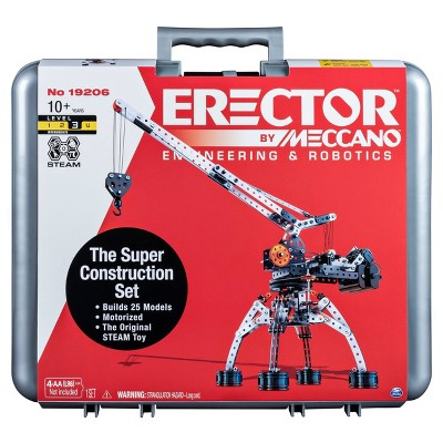 Erector by Meccano Super Construction 25-in-1 Motorized Building Set  STEAM Education Toy