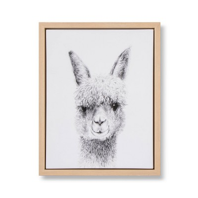 11x14 Framed Canvas Llama - Cloud Island™