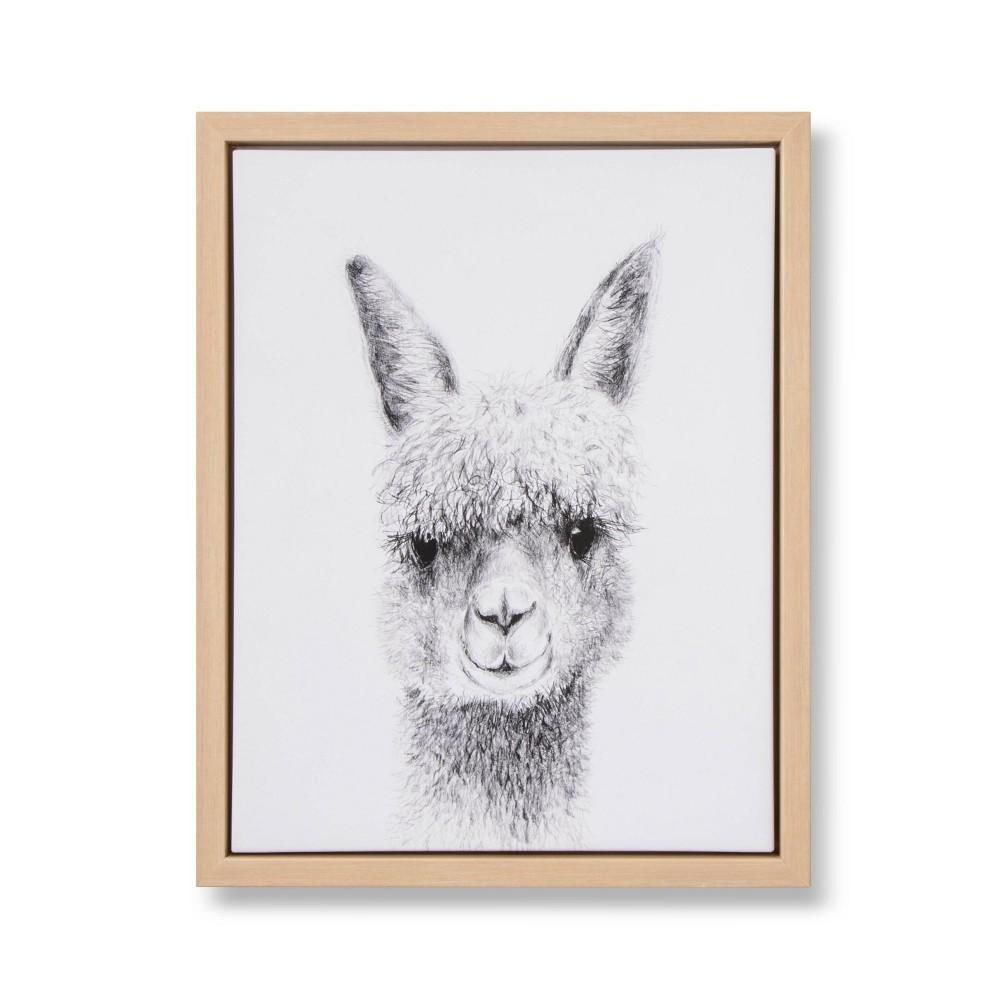 Image of 11x14 Framed Canvas Llama - Cloud Island